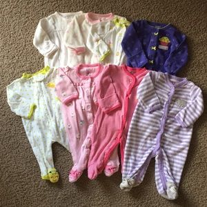 Bundle of 8 Carter's Footed Sleepers